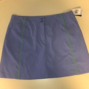 NWT Nike Golf Dry Fit Purple & Green Skirt